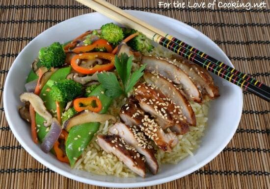 Teriyaki Chicken and Vegetable Rice Bowl