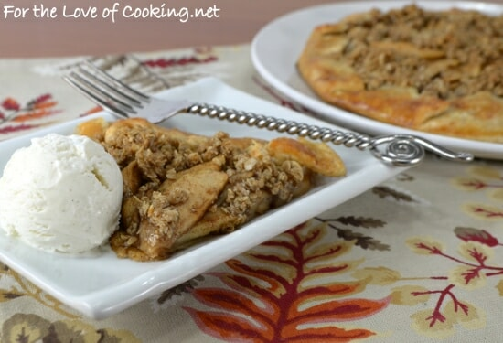 Apple Galette with Crumble Topping