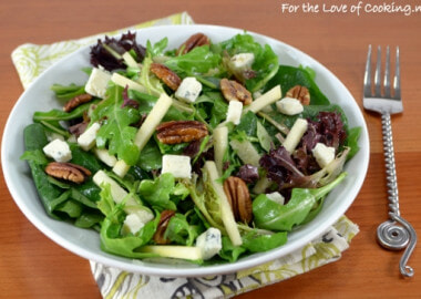 Autumn Salad with Apples, Toasted Pecans, and Gorgonzola