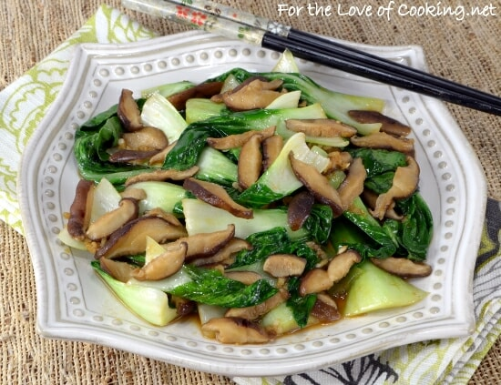 Bok Choy Sauté with Shiitake Mushrooms