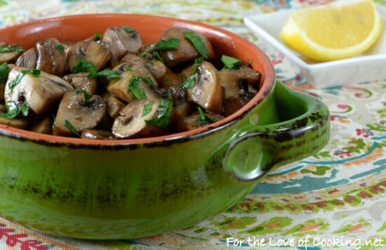 Mushroom Sauté with Lemon and Garlic