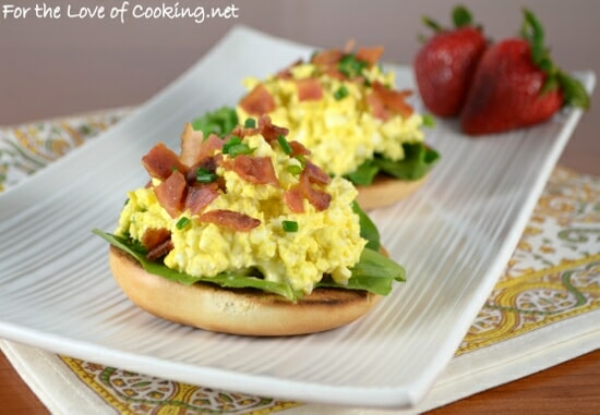 Open-Faced Egg Salad Sandwich with Bacon and Chives