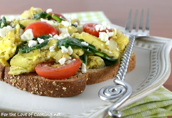 Veggie Scramble on Toast