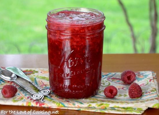 Raspberry Vanilla Bean Freezer Jam