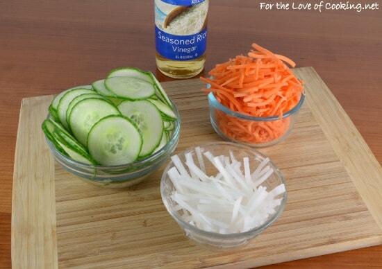 Banh Mi Sandwich with Lemongrass Pork