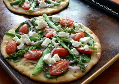 Veggie Flatbread Pizza with Feta Cheese