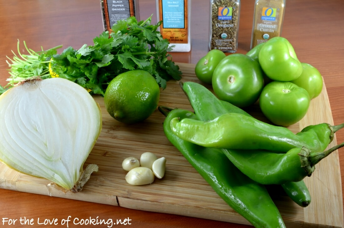 Roasted Hatch Chile Salsa Verde