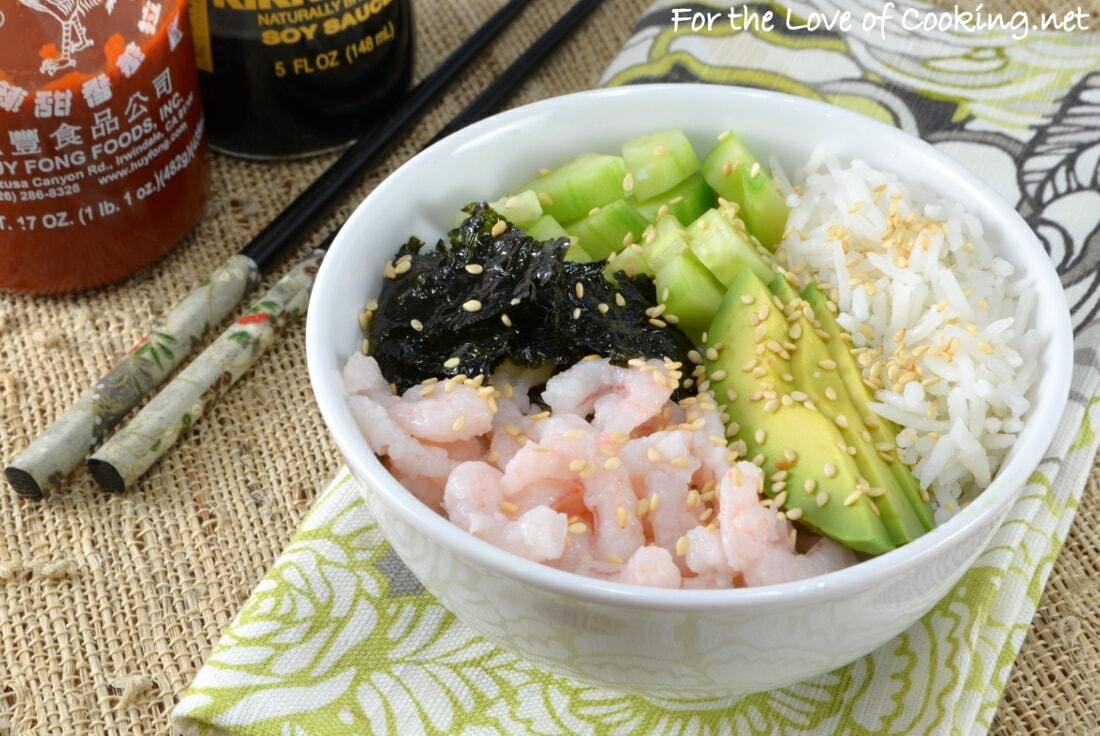 Shrimp Sushi Rice Bowl