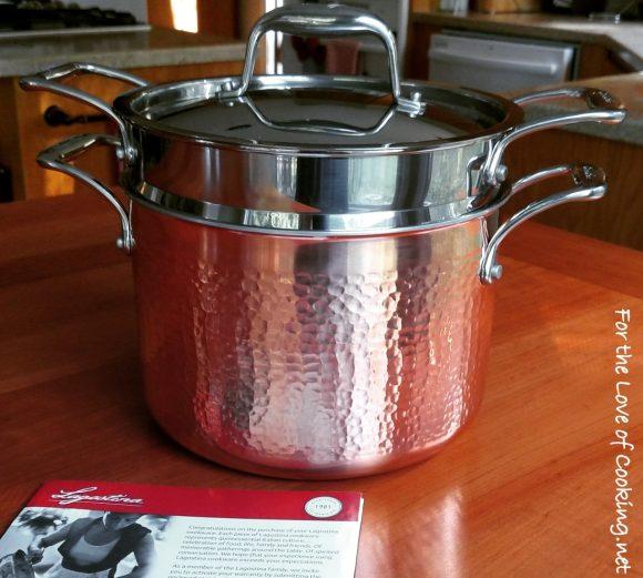 Lagostina Martellata Hammered Copper Pastaiola Set!!