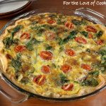 Italian Sausage, Tomato, and Spinach Quiche