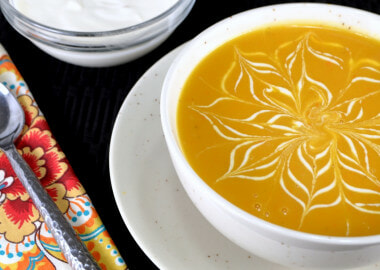 Butternut Squash Soup with Cider Cream
