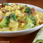 Macaroni and Cheese with Broccoli and Bacon