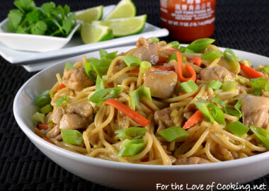 Thai Peanut Chicken Pasta