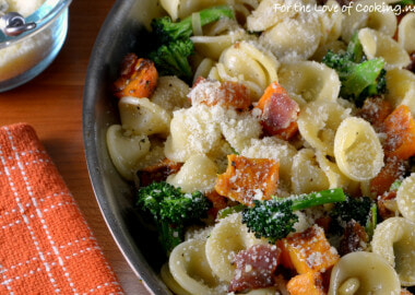 Orecchiette Pasta with Bacon, Butternut Squash, and Broccoli