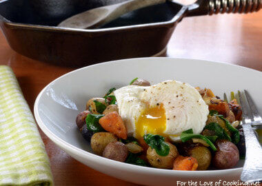 Butternut Squash and Baby Potato Hash with a Poached Egg