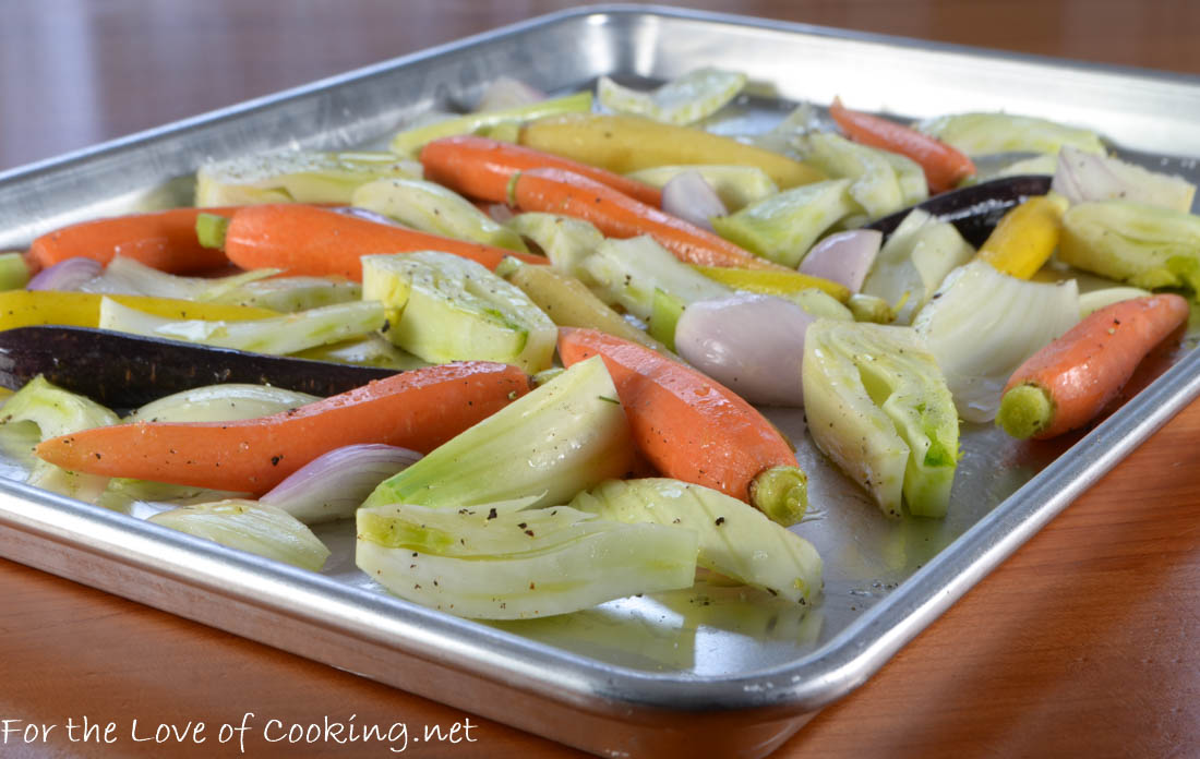 Roasted Baby Carrots, Fennel, and Shallots