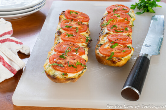 Open Faced Tomato and Mozzarella Sandwich with Basil Aioli