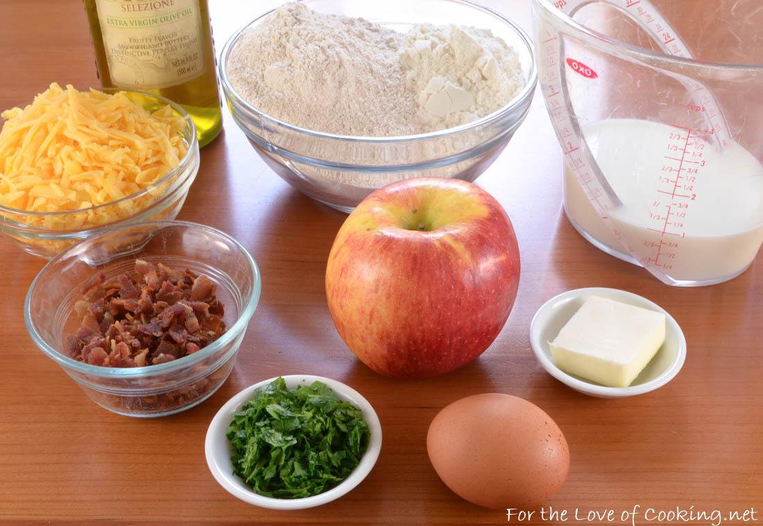 Apple, Bacon, and Cheddar Dog Treats