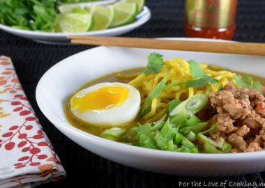 Spicy Pork Thai Coconut Ramen