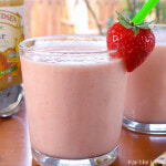 Strawberry, Peach, and Pear Smoothie