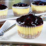 Mini Lemon-Blueberry Cheesecakes