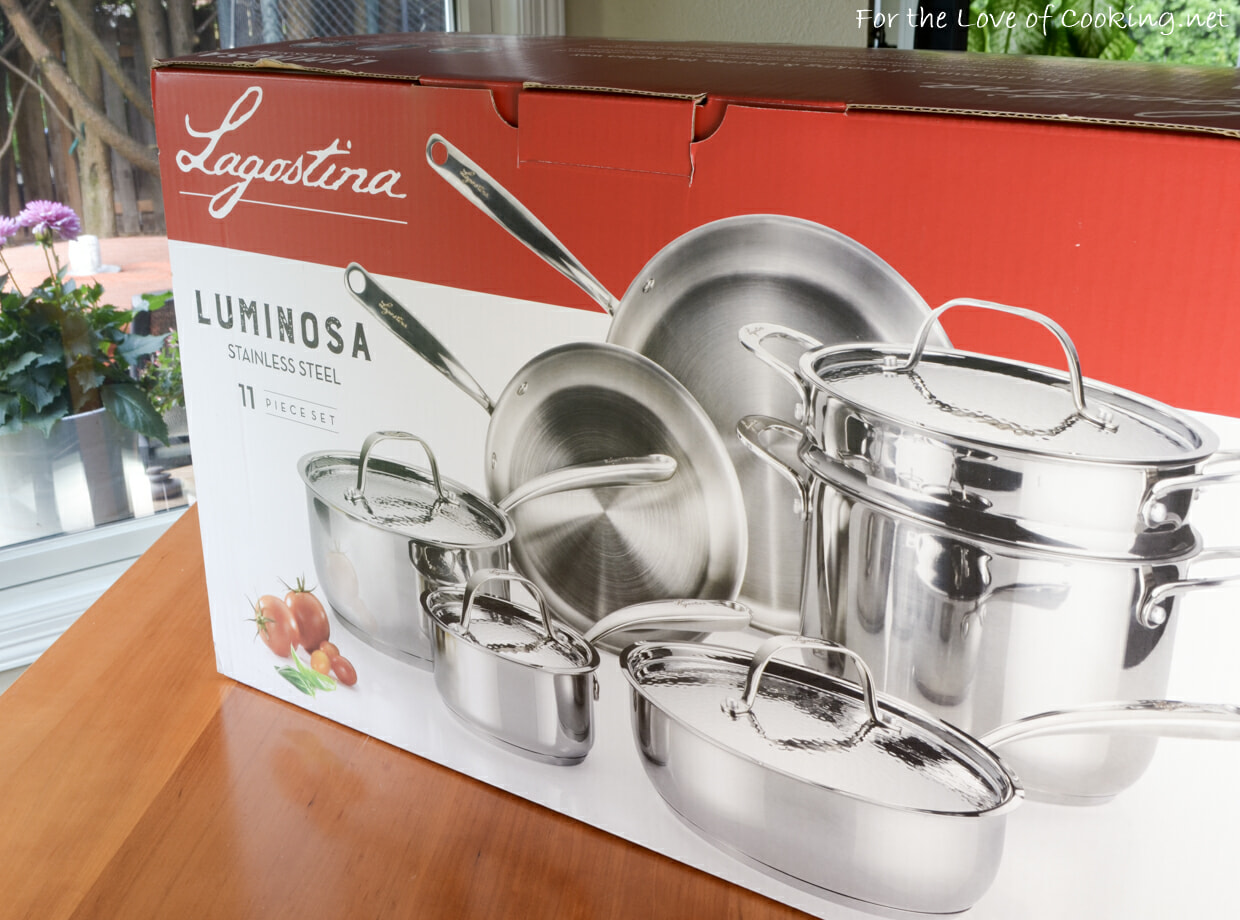 Spaghetti with Crab AND a Lagostina Luminosa Stainless Steel 11-Piece Cookware Set