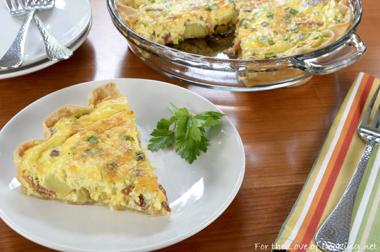 Bacon, Potato, and Sharp Cheddar Quiche