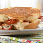 Gruyere, Slow Roasted Tomato, and Caramelized Onion Grilled Cheese