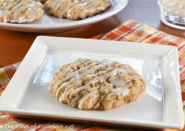 Iced Oatmeal Cookies