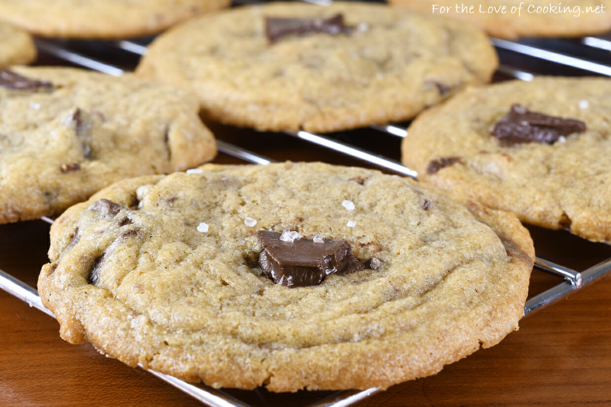 Brown Butter Toffee Chocolate Chunk Cookies