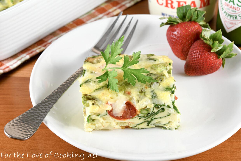 Veggie, Potato, and Gruyere Egg Casserole