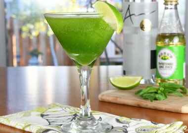 Blended Basil Martini