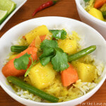 Thai Yellow Curry with Potatoes, Carrots, and Green Beans