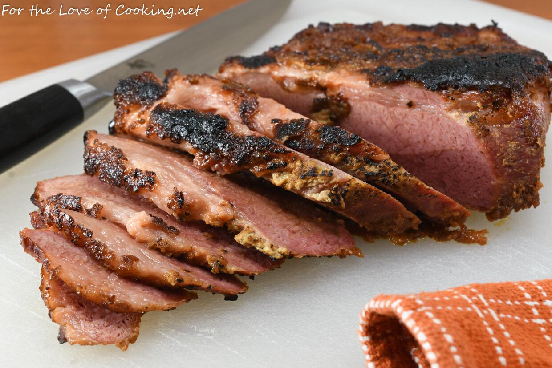 Baked Dijon-Brown Sugar Corned Beef