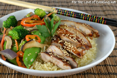 Teriyaki Chicken and Vegetable Rice Bowl