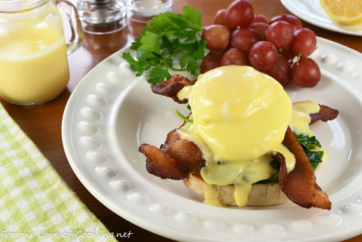Eggs Florentine with Bacon