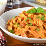 Fettuccine with Vodka Sauce