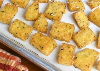 Baked Polenta Croutons
