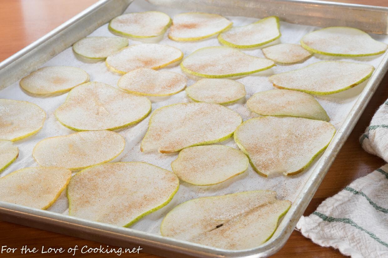 Baked Cinnamon-Sugar Pear Chips