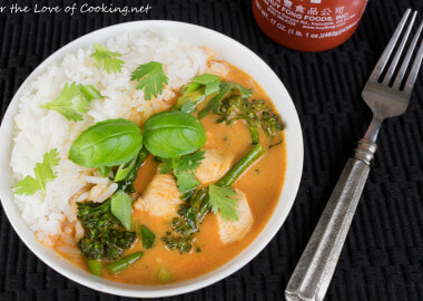 Thai Red Curry with Chicken and Broccolini