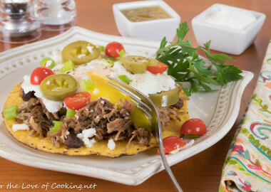 Pork Carnitas Breakfast Tostada