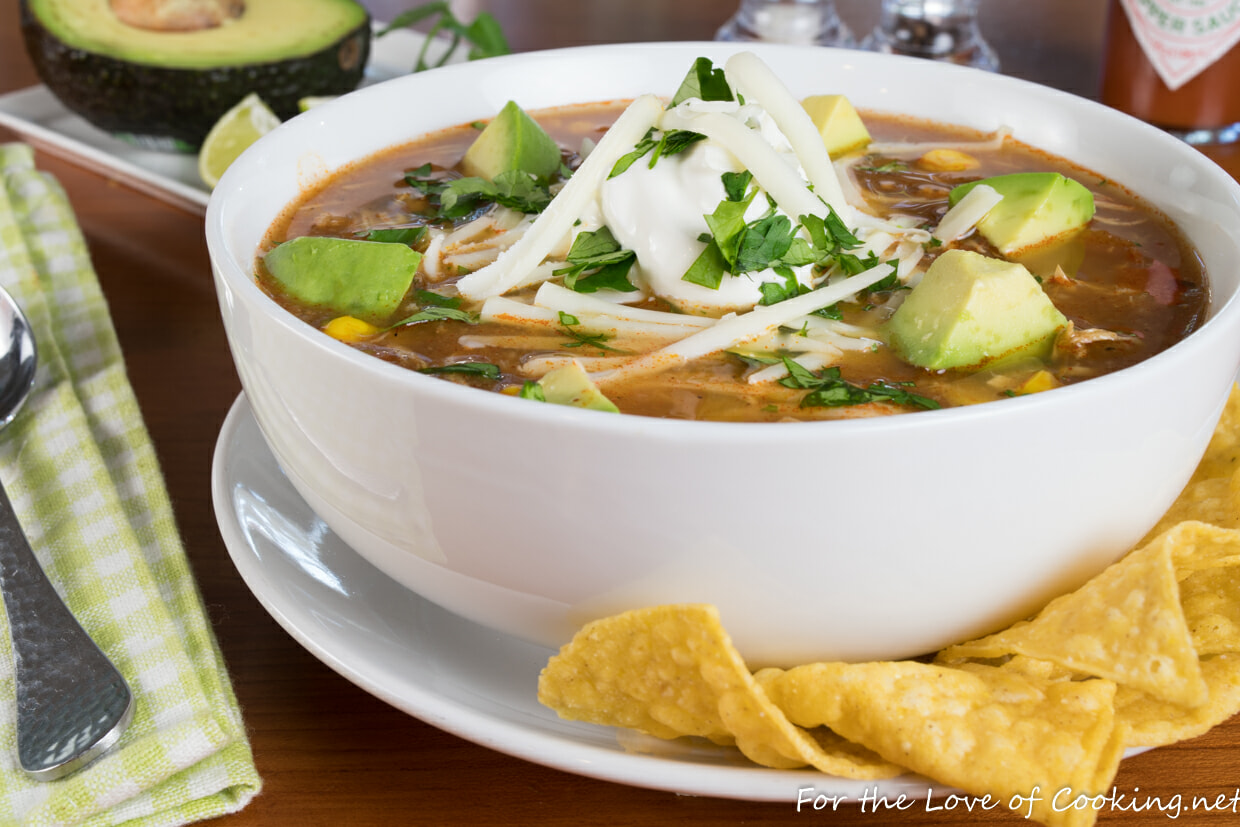 Slow-Simmered Chicken Tortilla Soup