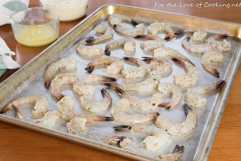 Garlic Butter Roasted Shrimp with Parmesan