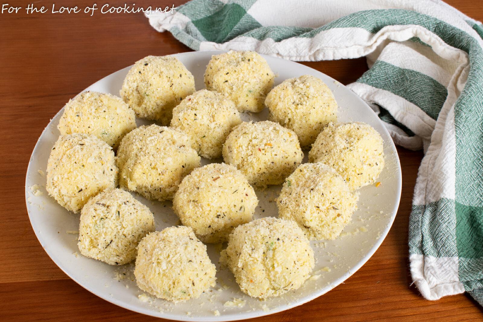Cheesy Potato Croquettes