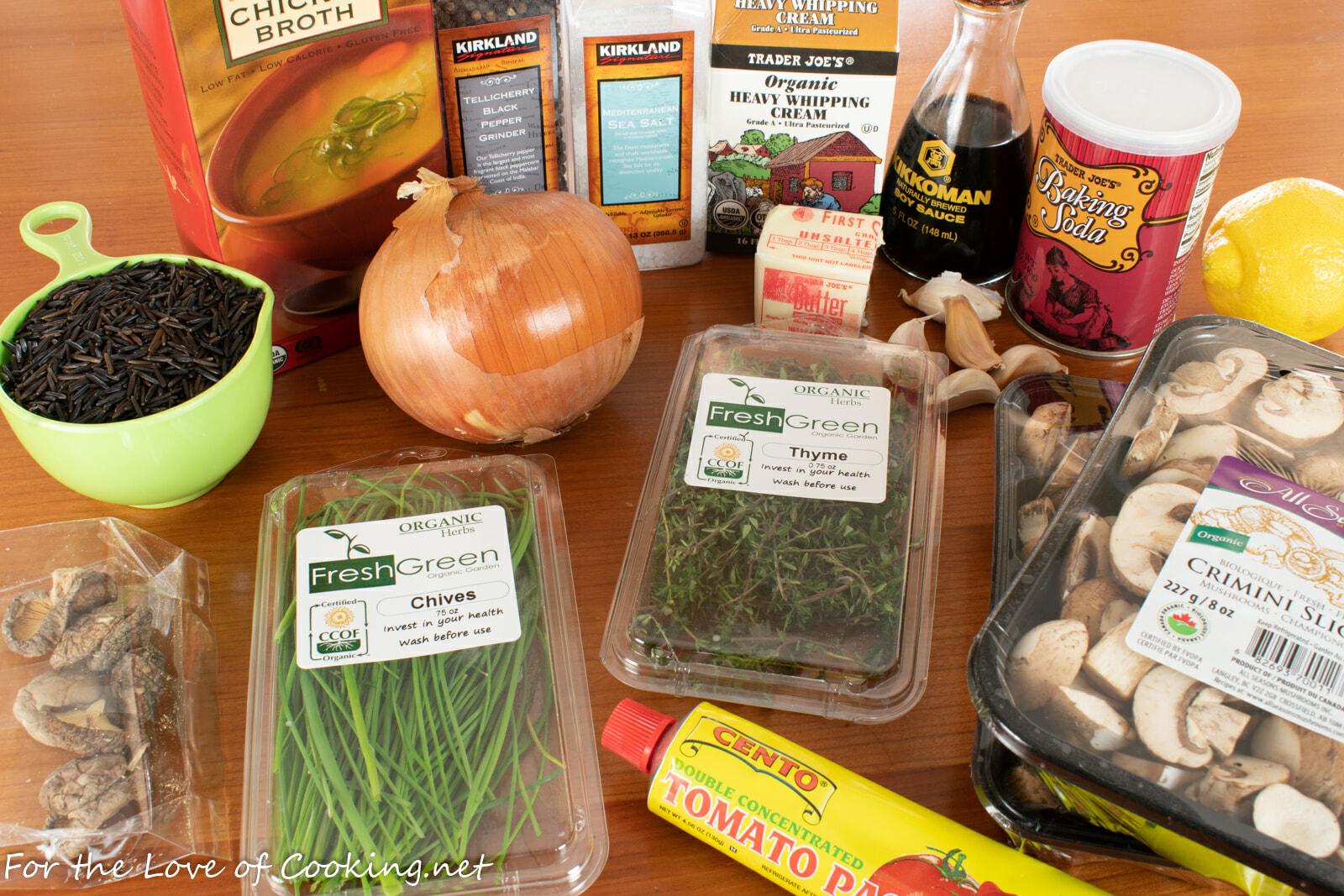 Wild Rice and Mushroom Soup