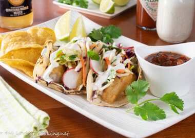 Baja Fish Tacos with Citrus Slaw