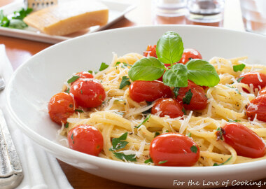 Garlic Butter and Burst Tomato Spaghetti with Fresh Herbs