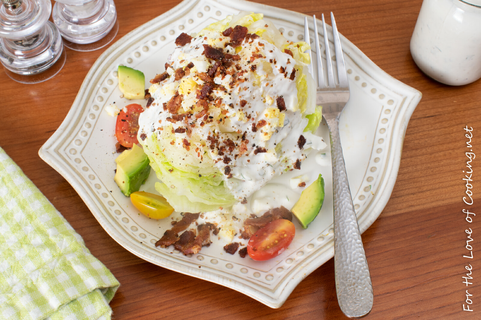 Loaded Wedge Salad with Herb Buttermilk Dressing
