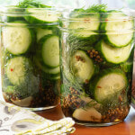 Quick Refrigerator Spicy Garlic-Dill Pickles