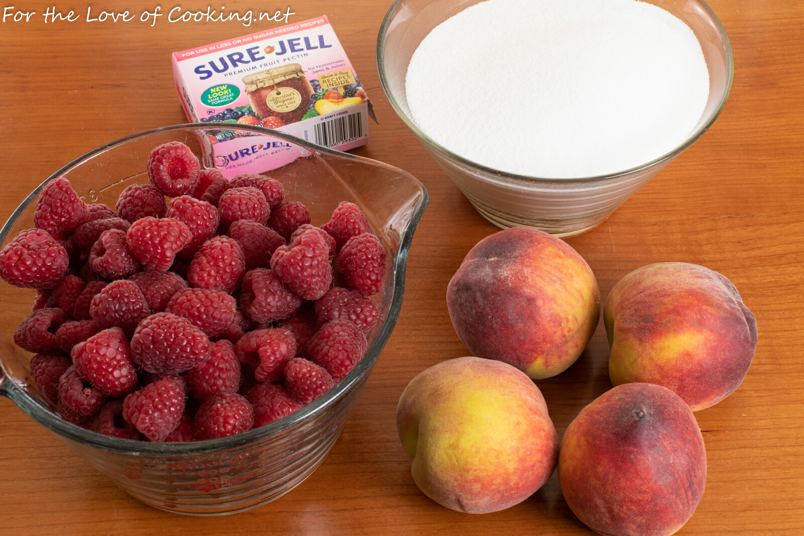 Raspberry-Peach Freezer Jam